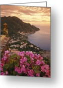 Tourists And Tourism Greeting Cards - View Of The Coastline From The Hotel Greeting Card by Richard Nowitz