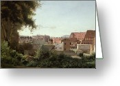 Jardins Greeting Cards - View of the Colosseum from the Farnese Gardens Greeting Card by Jean Baptiste Camille Corot