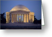 Of Buildings Greeting Cards - View Of The Jefferson Memorial Greeting Card by Richard Nowitz