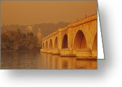 Arlington Memorial Bridge Greeting Cards - View Of The Memorial Bridge Greeting Card by Kenneth Garrett