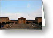 Philadelphia Museum Of Art Greeting Cards - View of The  Philadelphia Museum of Art Greeting Card by Bill Cannon