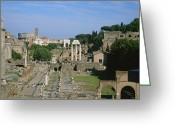 Latium Region Greeting Cards - View Of The Roman Forum Greeting Card by Taylor S. Kennedy