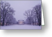 Winter Views Greeting Cards - View Of The University Of Virginias Greeting Card by Kenneth Garrett