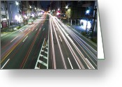 Marking Photo Greeting Cards - View Of Traffic At Nihonbashi, Tokyo, Japan Greeting Card by Billy Jackson Photography