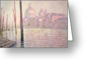 Signature Greeting Cards - View of Venice Greeting Card by Claude Monet