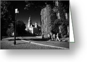 Old Krakow Greeting Cards - View Of Wawel Cathedral And Towers Streetlight In Wawel Hill Castle Krakow  Greeting Card by Joe Fox