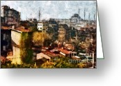 Marmara Greeting Cards - View on Beyoglu - Istanbul Greeting Card by Dariusz Gudowicz