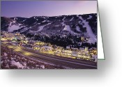 Highways Greeting Cards - View Over I-70, Vail, Colorado Greeting Card by Michael S. Lewis