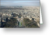 Aerial View Greeting Cards - View Over Trocadero From Eiffel Tower. Paris Greeting Card by Nico De Pasquale Photography