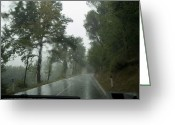 European Union Greeting Cards - View Through The Window Of A Car Greeting Card by Todd Gipstein