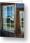 Building Detail Greeting Cards - View To A Different Time Greeting Card by Sandra Bronstein