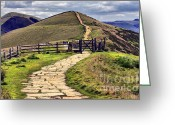 English Countryside Print Greeting Cards - View To Win Hill Greeting Card by Darren Burroughs