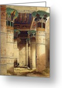 1796 Greeting Cards - View under the Grand Portico Greeting Card by David Roberts