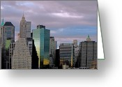 Eutemey Greeting Cards - Viewing Manhattan Greeting Card by Kendall Eutemey