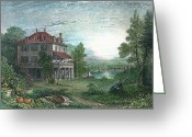 Mary Shelley Greeting Cards - Villa Diodati Greeting Card by Granger
