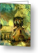 Village Church Greeting Cards - Village Church Greeting Card by Anne Weirich