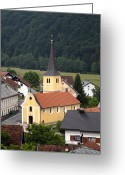 Village Church Greeting Cards - Village Church Greeting Card by Don Wolf