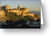 Church Photos Greeting Cards - Village de Gordes. Vaucluse. France. Europe Greeting Card by Bernard Jaubert