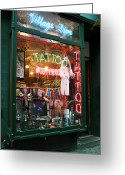 New York New York Com Greeting Cards - Village Diva Greeting Card by John Rizzuto