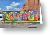 Motown Greeting Cards - Village Fence Greeting Card by David Kyte