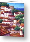 Casares Greeting Cards - Village of Casares Greeting Card by Candy Mayer
