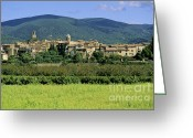 South France Greeting Cards - Village of Lourmarin. Luberon. Vaucluse Greeting Card by Bernard Jaubert