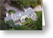 Chestnut Hill Wyndmoor Blue Bell Aerial Photographs Greeting Cards - Villanova Main Line Aerial Photograph 2763 Greeting Card by Duncan Pearson
