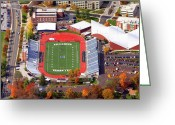 Coach Greeting Cards - Villanova Stadium 800 East Lancaster Avenue Jake Nevin Fieldhouse Villanova Pa 19085  Greeting Card by Duncan Pearson