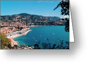 Nautical Vessel Greeting Cards - Villefranche Sur Mer Greeting Card by FCremona