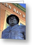 Coach Greeting Cards - Vince Lombardi Greeting Card by Joel Witmeyer