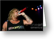 Tommy Lee Greeting Cards - Vince Neil At DTE Greeting Card by Christopher  Chouinard