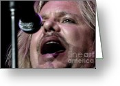 Tommy Lee Greeting Cards - Vince Neil Close Up  Greeting Card by Christopher  Chouinard