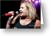 Tommy Lee Greeting Cards - Vince Neil Repose Greeting Card by Christopher  Chouinard