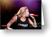 Tommy Lee Greeting Cards - Vince Neil Turns  Greeting Card by Christopher  Chouinard