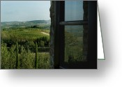 European Union Greeting Cards - Vineyards Of Chianti Viewed Greeting Card by Todd Gipstein