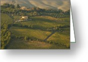 Brunello Greeting Cards - Vineyards Surround Villas Greeting Card by Michael S. Lewis