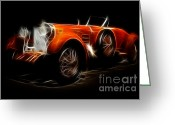 Tulipwood Greeting Cards - Vintage 1924 Hispano Suiza Greeting Card by Wingsdomain Art and Photography