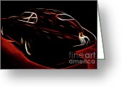 Red Sportscar Greeting Cards - Vintage Alfa Romeo Greeting Card by Wingsdomain Art and Photography