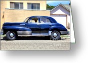 Vehicles Digital Art Greeting Cards - Vintage America . Chevrolet Fleetline . 5D16719 Greeting Card by Wingsdomain Art and Photography