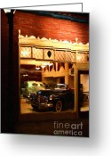 Vehicles Digital Art Greeting Cards - Vintage American Car Dealership - 7D17398 Greeting Card by Wingsdomain Art and Photography