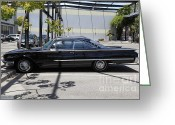 Collectors Car Greeting Cards - Vintage Black Ford Starliner . 5D16707 Greeting Card by Wingsdomain Art and Photography