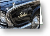 Collectors Car Greeting Cards - Vintage Black Ford Starliner . 5D16714 Greeting Card by Wingsdomain Art and Photography
