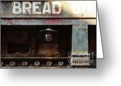 Arquitectura Greeting Cards - Vintage Bread Sign Greeting Card by Anahi DeCanio