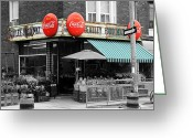 Vintage Signs Greeting Cards - Vintage Coca Cola Signs Greeting Card by Andrew Fare