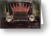 Gold Ford Greeting Cards - Vintage Cool Greeting Card by Perry Webster