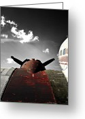Vintage Aircraft Greeting Cards - Vintage Dc-3 Aircraft  Greeting Card by Steven  Digman