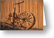 Wheels Greeting Cards - Vintage Details By The Blacksmith Barn Greeting Card by Stephen St. John