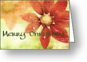 Spokane Greeting Cards - Vintage Floral Greeting Card by Reflective Moments  Photography and Digital Art Images
