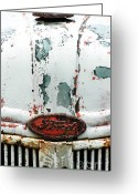 Rural Decay  Digital Art Greeting Cards - Vintage Ford Tractor Greeting Card by Anahi DeCanio