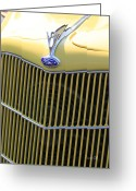 Ford V8 Greeting Cards - Vintage Ford V8 Grill Greeting Card by Suzanne Gaff